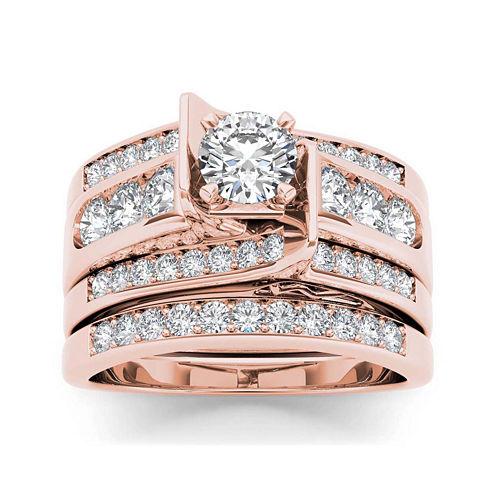 1 1/4 CT. T.W. Diamond 14K Rose Gold Bridal Set1 1/4 CT. T.W. Diamond 14K Rose Gold Bridal Set