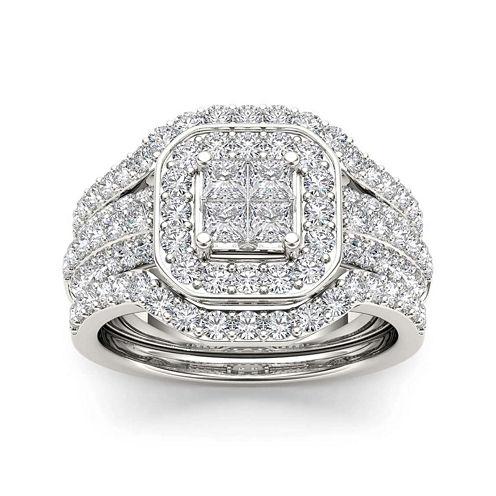 1 3/4 CT. T.W. Diamond 10K White Gold Bridal Set