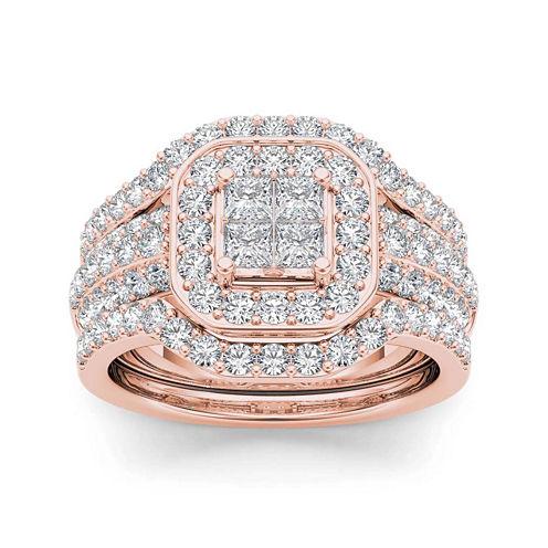 1 3/4 CT. T.W. Diamond 10K Rose Gold Bridal Set