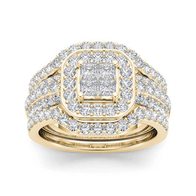 1 3/4 CT. T.W. Diamond 10K Yellow Gold Bridal Ring Set