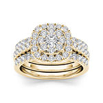 1 1/2 CT. T.W. Diamond 14K Yellow Gold Bridal Ring Set