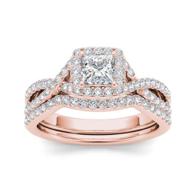 1 1/4 CT. T.W. Diamond 14K Rose Gold Bridal Set