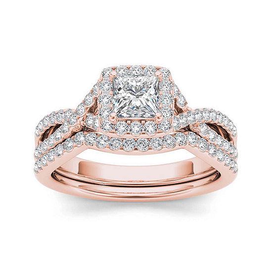 1 1/4 CT. T.W. Diamond 14K Rose Gold Bridal Set