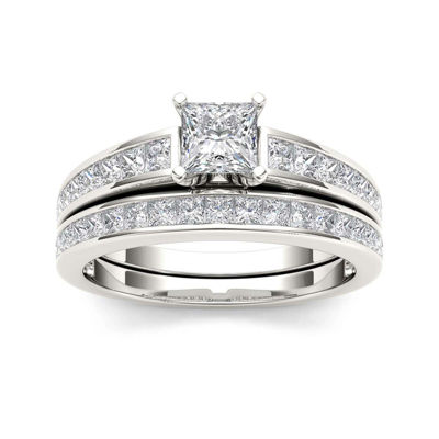 1 1/2 CT. T.W. Diamond 14K White Gold Bridal Set