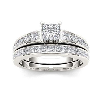 1 1/2 CT. T.W. Diamond 14K White Gold Bridal Set