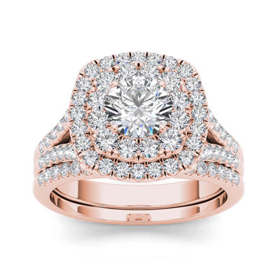 2 CT. T.W. Diamond 14K Rose Gold Bridal Set