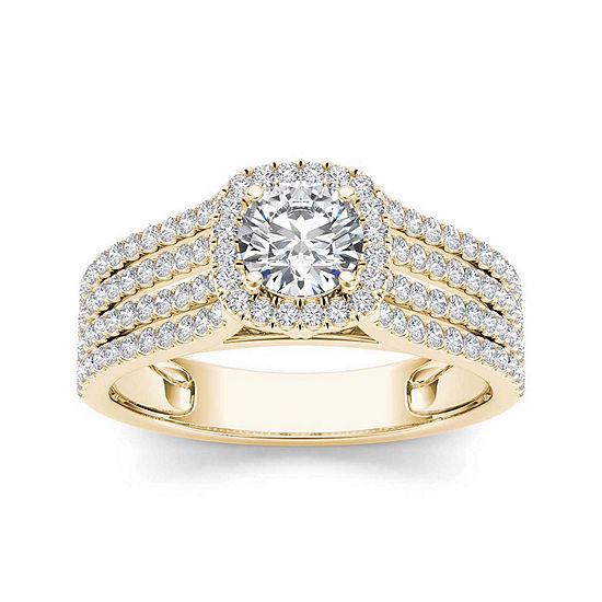 1 CT. T.W. Diamond 14K Yellow Gold Engagement Ring