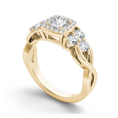 1 1/2 CT. T.W. Diamond 14K Yellow Gold Engagement Ring