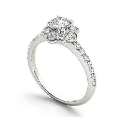 1 1/4 CT. T.W. Diamond 14K White Gold Engagement Ring