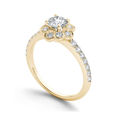 1 1/4 CT. T.W. Diamond 14K Yellow Gold Engagement Ring