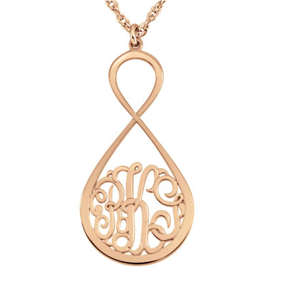 Personalized Monogram Infinity Pendant Necklace