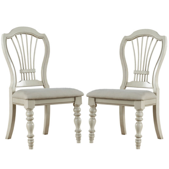 Tucker Hill Wheat Set of 2 Back-Side Chairs
