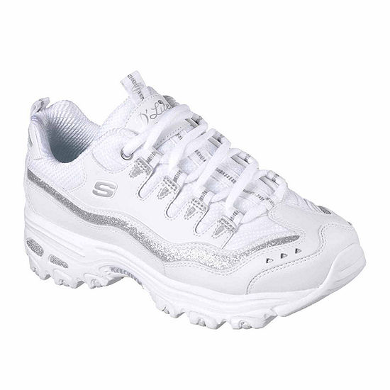 Skechers D'Lites Now And Then Womens Lace-up Sneakers