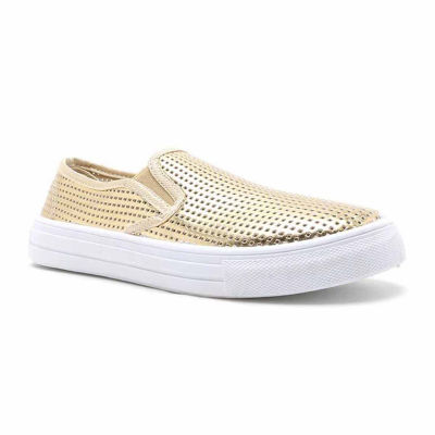 Qupid Reba Perforated Womens Sneakers Pull-on