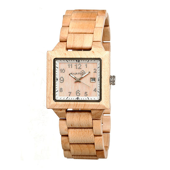 Earth Wood Culm Unisex Adult Brown Bracelet Watch-Ethew1001