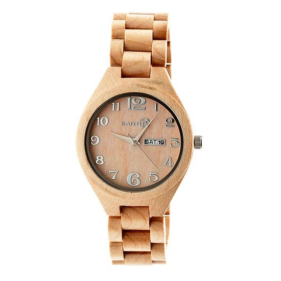 Earth Wood Sapwood Unisex Adult Brown Bracelet Watch-Ethew1601