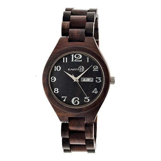 Earth Wood Sapwood Unisex Adult Brown Bracelet Watch-Ethew1602