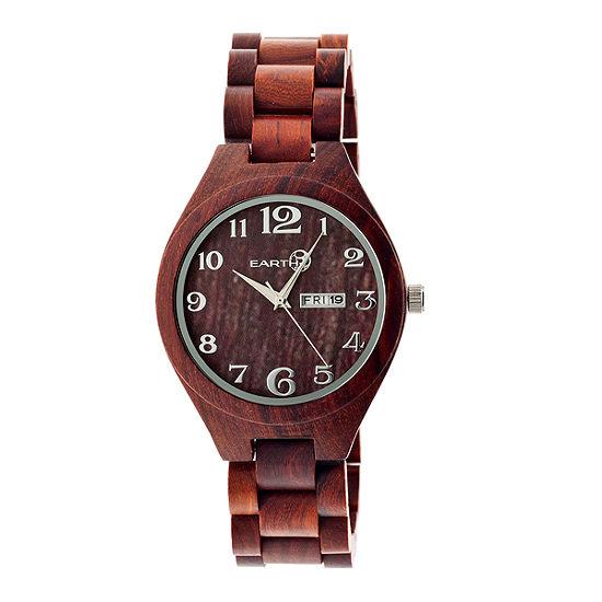 Earth Wood Sapwood Unisex Red Bracelet Watch Ethew1603