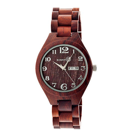 Earth Wood Sapwood Unisex Adult Red Bracelet Watch-Ethew1603