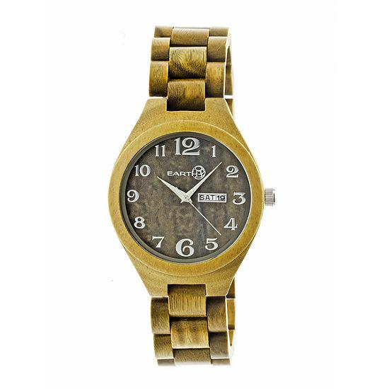 Earth Wood Sapwood Unisex Adult Green Bracelet Watch-Ethew1604