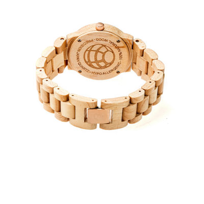 Earth Wood Biscayne Unisex Brown Bracelet Watch-Ethew4201