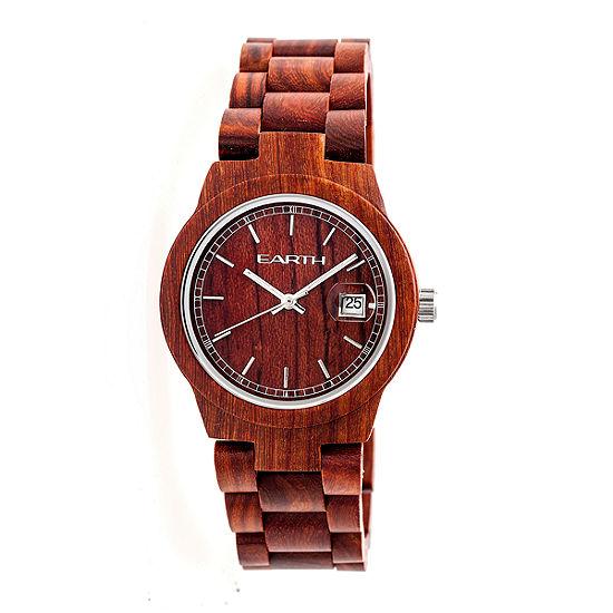 Earth Wood Biscayne Unisex Red Bracelet Watch-Ethew4203