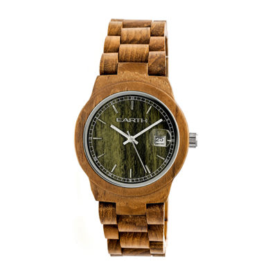 Earth Wood Biscayne Unisex Green Bracelet Watch-Ethew4204