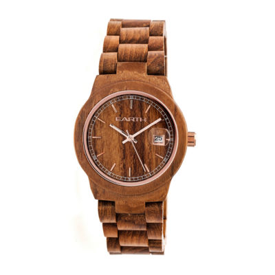 Earth Wood Biscayne Unisex Brown Bracelet Watch-Ethew4205
