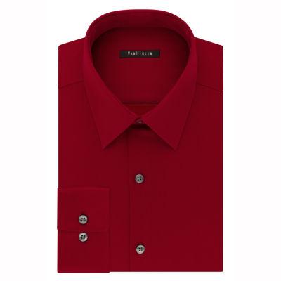 Van Heusen Flex Cool Collar Slim Long-Sleeve Woven Dress Shirt