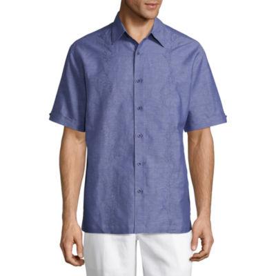 Havanera Short Sleeve Panel Button-Front Shirt