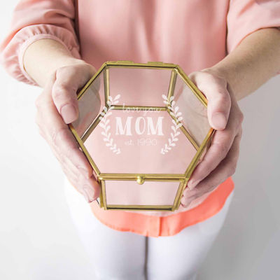 Cathy's Concepts Personalized Mother's Day Gold Jewelry Box