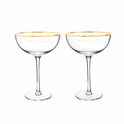 Cathy's Concepts Coupe Flutes 4-pc. Personalized Champagne Flutes