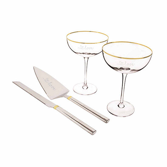Cathy's Concepts Love 4-pc. Champagne Flutes