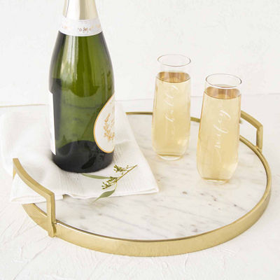 Cathy's Concepts Hubby & Wifey Champagne Flutes