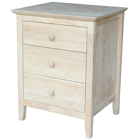 Whitewood Industries 3-Drawer Nightstand