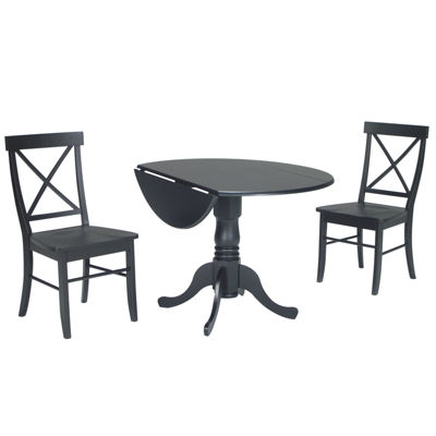 Dual Drop Leaf 3-pc. Round Dining Set