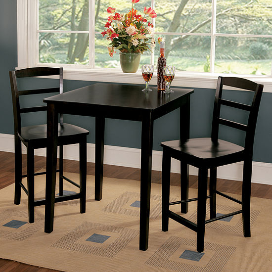 Jcpenney Dining Sets: Gathering 3-pc. Counter Height Square Dining Set
