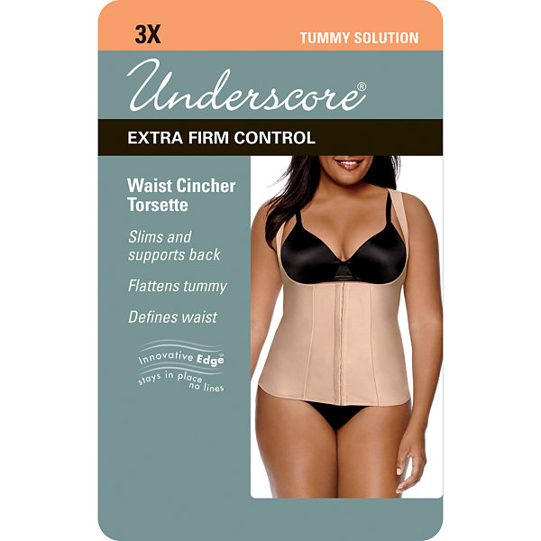 "Underscore Innovative Edge® ""Inches Off"" Wear Your Own Bra Torsette Waist Trainer 1293045"