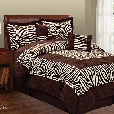Fashion Street  Zebra 6pc Comforter Set