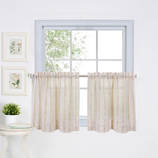 Home Expressions 2-pc. Rod-Pocket Kitchen Curtain Set