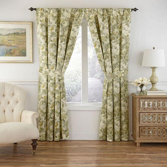 Waverly Spring Bling Light-Filtering Rod-Pocket Curtain Panel