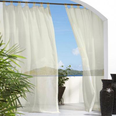 Escape Solid Indoor/Outdoor Tab-Top Single Outdoor Curtain Panel
