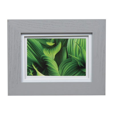 5X7 Wide Grey W/ White Double Mat To 4X6 Frame