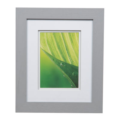 8X10 Wide Frame with White Double Mat To 5X7