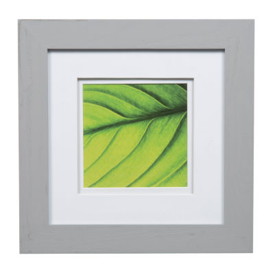 8X8 Wide Grey W/ White Double Mat To 5X5 Frame