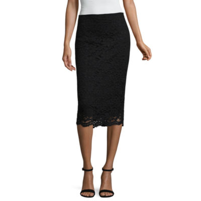 "Worthington Lace Midi Skirt - Tall 29.5"""