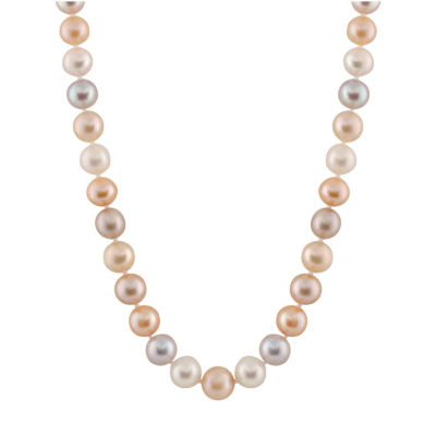 Splendid Pearls Womens Multi Color Pearl 14K Gold Strand Necklace