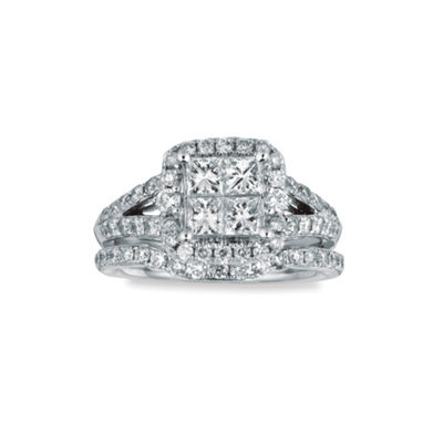 Womens 1 3/4 CT. T.W. White Diamond 14K Gold Bridal Set