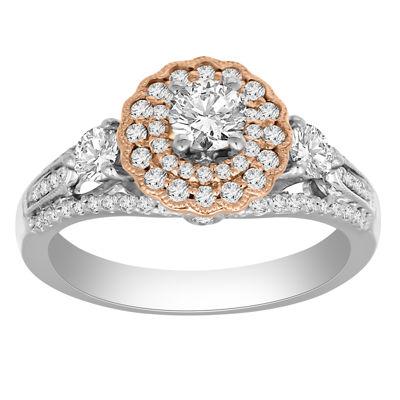 Womens 1 CT. T.W. White Diamond 14K Gold Engagement Ring