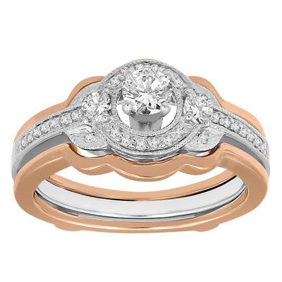 Womens 1/2 CT. T.W. White Diamond 14K Gold Ring Enhancer